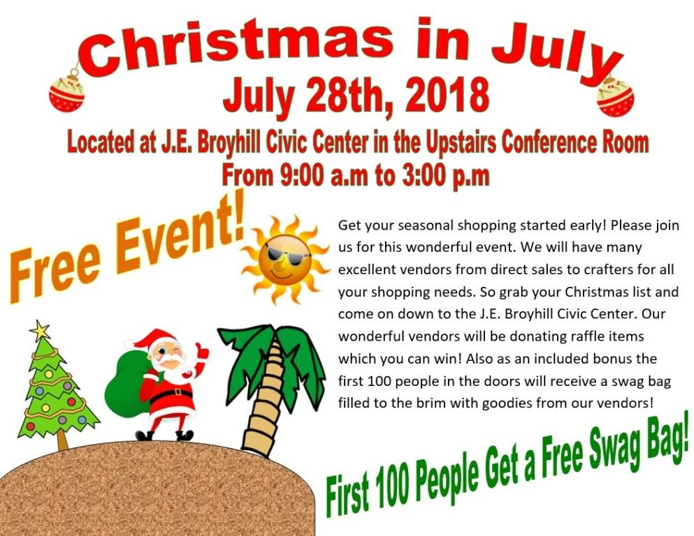 Christmas in July @ J.E. Broyhill Civic Center | Lenoir | North Carolina | United States